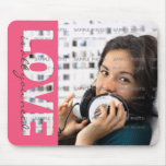 Custom Mousepads Designs with Cut Out Text    LOVE