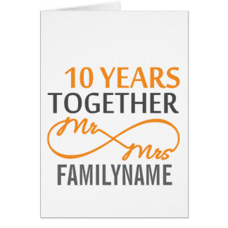 Custom Mr and Mrs 10th Anniversary Card