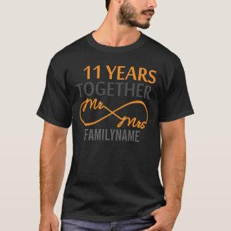 Custom Mr and Mrs 11th Anniversary T-Shirt