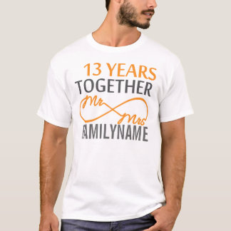 Custom Mr and Mrs 13th Anniversary T-Shirt