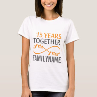 Custom Mr and Mrs 15th Anniversary T-Shirt