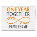 Custom Mr and Mrs 1st Anniversary