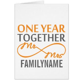 Custom Mr and Mrs 1st Anniversary Card