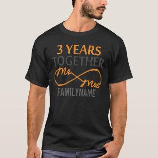 Custom Mr and Mrs 3rd Anniversary T-Shirt