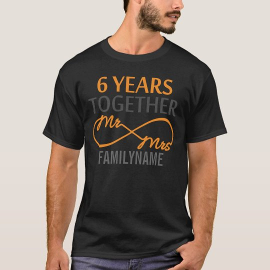 Custom Mr and Mrs 6th Anniversary T-Shirt