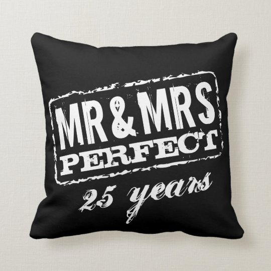 Custom Mr and Mrs couples anniversary throw pillow