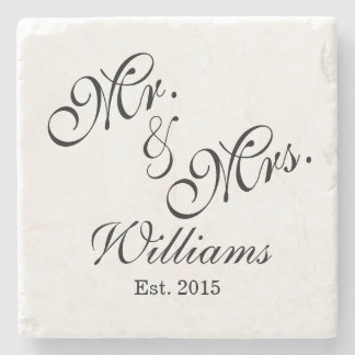 Custom Mr. & Mrs. Wedding Coasters