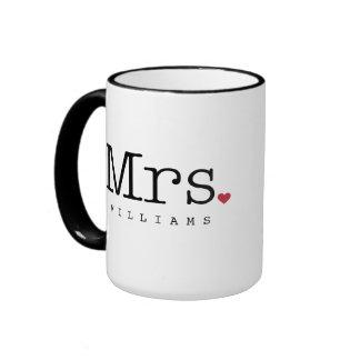 Custom Mrs. Coffee Mug | Black, White, Red