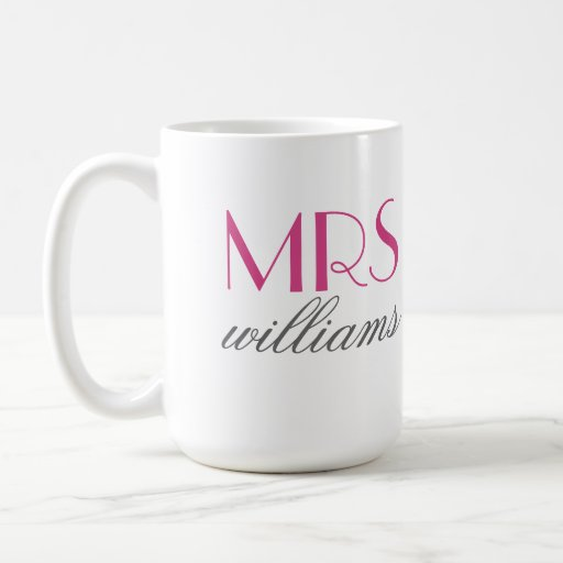 Custom Mrs. Coffee Mug | Bride-to-Be Gifts