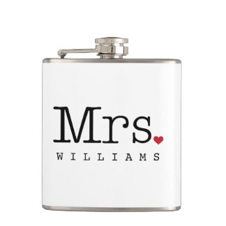 Custom Mrs. Wedding Flask | Bride Gift