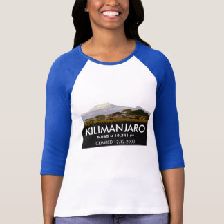Custom Mt Kilimanjaro Climb Commemorative T-Shirt