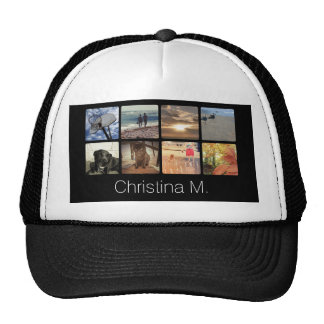 Custom Multi Photo Mosaic Picture Collage Hats