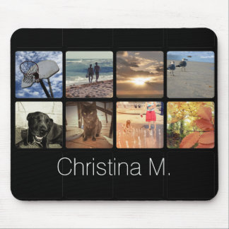 Custom Multi Photo Mosaic Picture Collage Mouse Mat