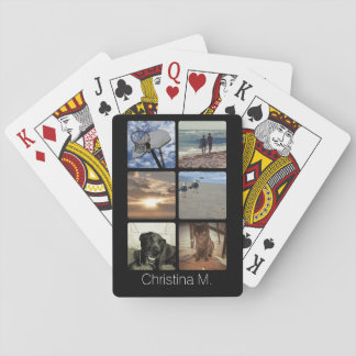 Custom Multi Photo Mosaic Picture Collage Playing Cards