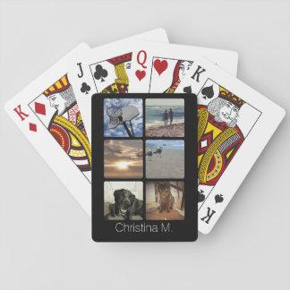 Custom Multi Photo Mosaic Picture Collage Poker Deck