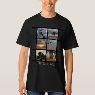 Custom Multi Photo Mosaic Picture Collage T-Shirt