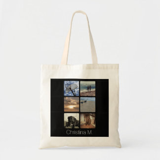 Custom Multi Photo Mosaic Picture Collage Tote Bag