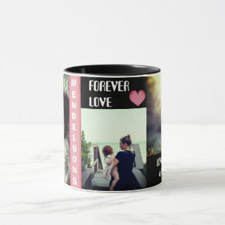 Custom multi picture and personalized text mug