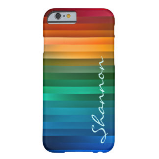 Custom Multicolor Ribbon Stripe Barely There iPhone 6 Case
