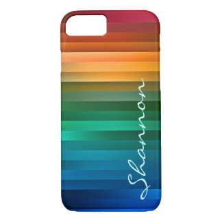 Custom Multicolor Ribbon Stripe iPhone 7 Case