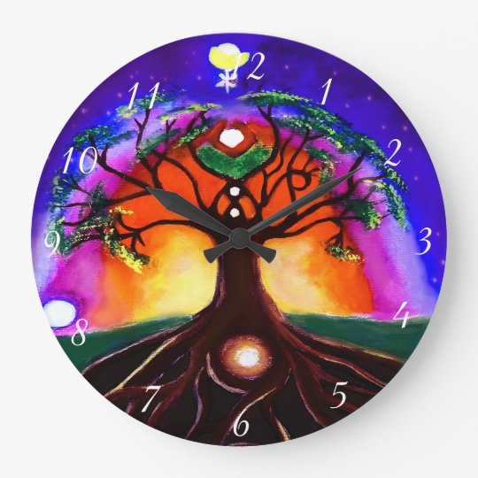 Custom multicolor unique painted tree of life large