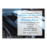 Custom Muscle Car Baby Shower Invitation - Blue 9 Cm X 13 Cm Invitation Card