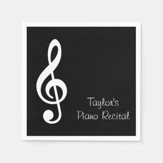 Custom Music Recital Party Napkins Paper Napkin