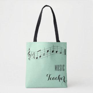 Custom Music Teacher Bag - Mint Green