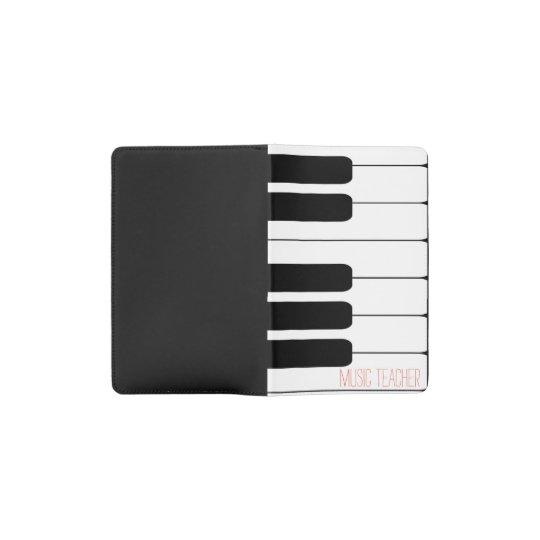 Custom Music Teacher Piano Keyboard Notebook