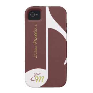 custom musical note iPhone 4/4S cover