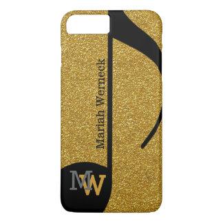 custom musical note faux golden iPhone 7 plus case