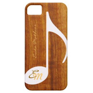 custom musical note on wood iPhone 5 case