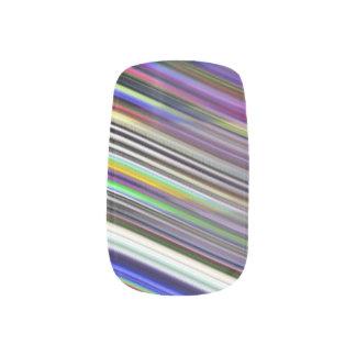 Custom Nail Art - Diagonal Stripes Abstract