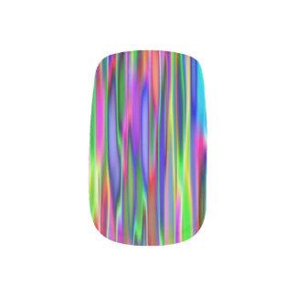 Custom Nail Art - Multicoloured Fractal Image