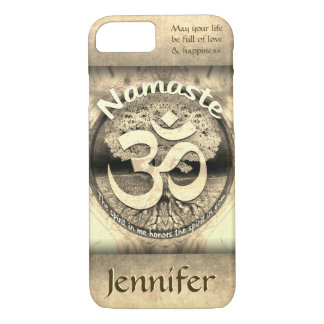 Custom Namaste Vintage Gold Look iPhone 8/7 Case