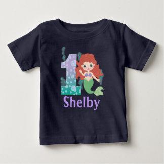 Custom name 1st Birthday Princess Mermaid Shirt