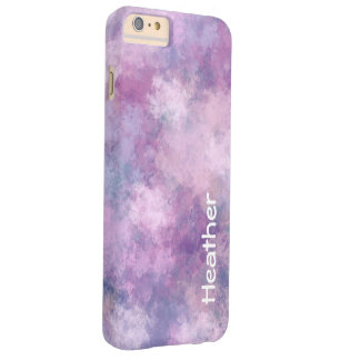 Custom Name Abstract Blue, Lilac and Pink Barely There iPhone 6 Plus Case