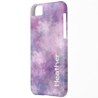 Custom Name Abstract Blue, Lilac and Pink iPhone 5C Case