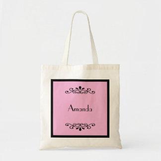 Custom Name and Colour Bridesmaid Tote Bag
