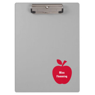 Custom Name | Apple design Clipboards for Teachers
