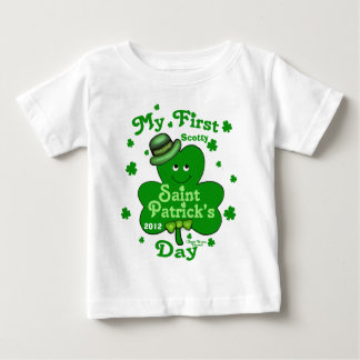 Custom Name Baby Boy's First St. Patrick's Day T-shirts
