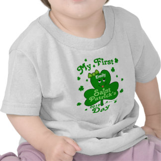 Custom Name Baby Girl s First St Patrick s Day Tee Shirts