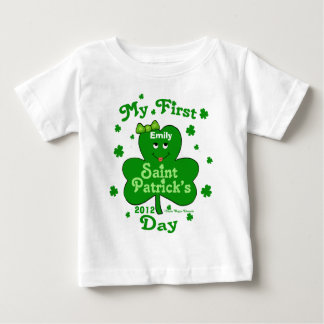 Custom Name Baby Girl's First St. Patrick's Day T Shirt