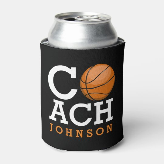 Custom Name Basketball Coach Can Cooler