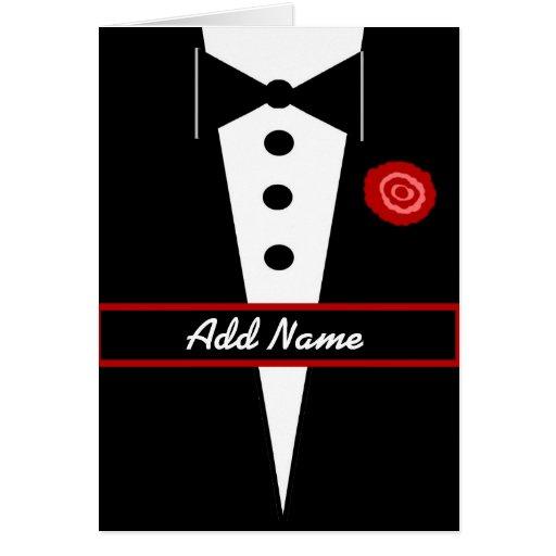 Custom Name Be My Groomsman Greeting Card