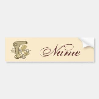 Custom Name Beautician Bumper Sticker