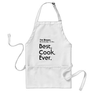 Custom Name Best Cook Ever Apron