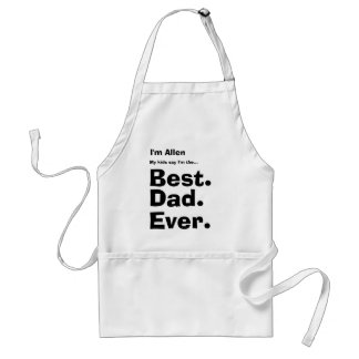 Custom Name Best Dad Ever Standard Apron