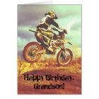 Custom Name - Birthday for Boy - Dirt Bike Card