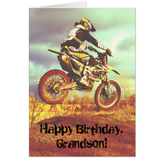 Custom Name - Birthday for Boy - Dirt Bike Card